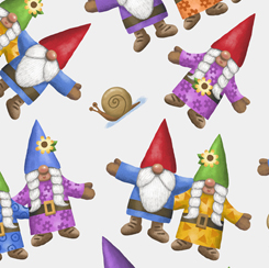 Home Sweet Gnome TOSSED GNOMES WHITE