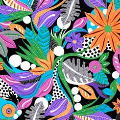 Tropical Geo - Caribe - QT Fabrics