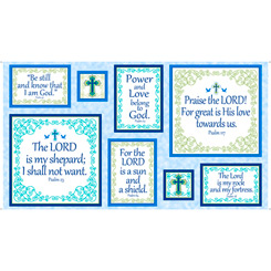 Psalms Patches Panel Blue