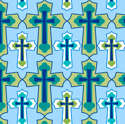 Psalms SET CROSSES BLUE