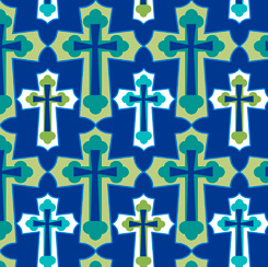 Psalms Set Crosses 28253-N Navy