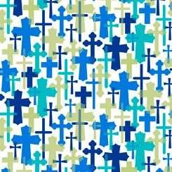 Psalms Overlapping Crosses 28255-Z White