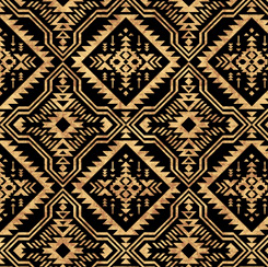 Southwest Reflection Blanket Black