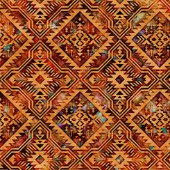 Southwest Reflection Blanket Rust
