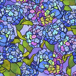 Stained Glass Garden HYDRANGEAS BLUE