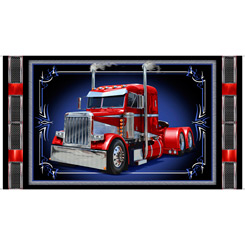 QT Keep On Truckin' Semi Truck Panel Black 28274-J