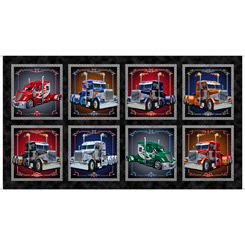 QT Keep On Truckin' Semi Truck Picture Patches Black Panel 28275-J