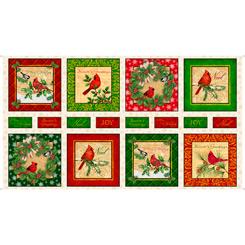 Christmas Cardinals CHRISTMAS CARDINALS panel 28297-E