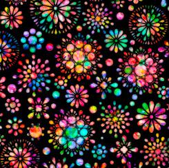 Brilliance Floral Burst Black 28321 J
