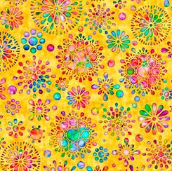 Brilliance Floral Burst Yellow 28321 S