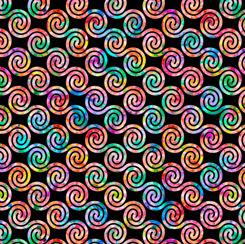 Brilliance Diagonal  Scroll Black 28329 J