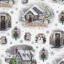 Winter Greetings CHRISTMAS VILLAGE VIGNETTES WHITE 28336-Z