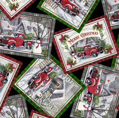 Winter Greetings Christmas Postcards Black 28337J