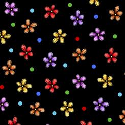 Home Flower Toss Black