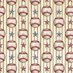 America's Pastime BASEBALL STRIPE CREAM