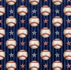 America's Pastime BASEBALL STRIPE NAVY