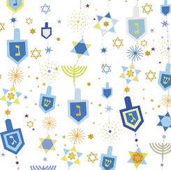 Hanukkah Greetings HANUKKAH MOTIFS WHITE 28358-Z