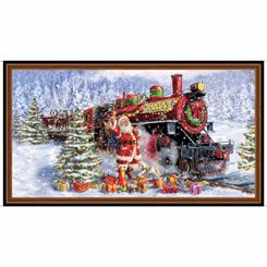 Santa's Night Out SANTA & TRAIN PANEL MULTI
