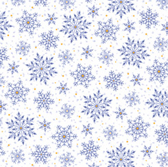 Fabric-QT Santa's Night Out Snowflakes