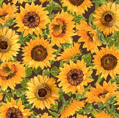 Fall Splendor SUNFLOWERS BROWN
