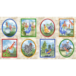 Colorful Roosters ROOSTERS PICTURE PATCHES