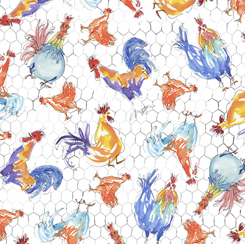Colorful Roosters 28406-Z