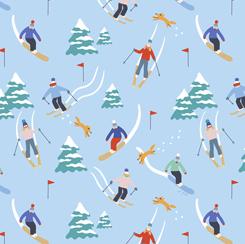 Wintertime Joy-Skier