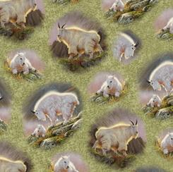 QT - Mountain Goats - VIGNETTES/Green - 28438-H