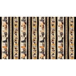 Quilting Treasures 1649-28487-E  Felicity CAT STRIPE