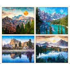 Quilting Treasures Untamed Mountain Picture Patches Panel