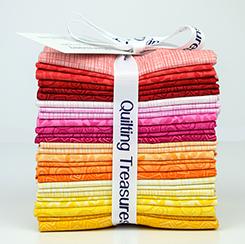 Quilting Treasures Harmony Cotton Bright Warm Fat Quarter Bundle