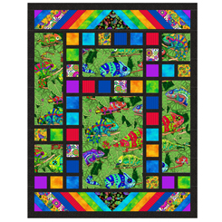 Quilting Treasures Color Me Chameleon KIT TOMS GARD KIT FFQ032