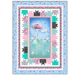 Quilting Treasures Fancy Flamingos Kit