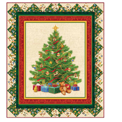 O Tannenbaum Panel KIT (44 x 52) - QT PATTERN - Quilting Treasures Fabric