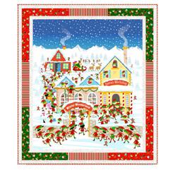 Santa's Workshop Panel KIT PR1778 (41 x 47) - Quilting Treasures