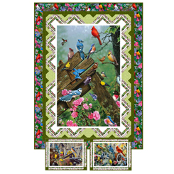 QT - Songbirds WALL HANGING/PLACEMATS - PT1793