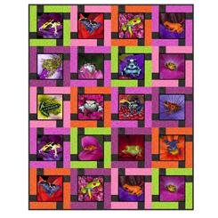 Block Talk Quilt Kit - Artworks XVII - Frogs SGD056