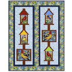 Glass Menagerie Birds Quilt Kit 53 x 67