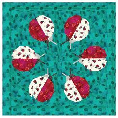 Ladybug Loop Mini Quilt Pattern