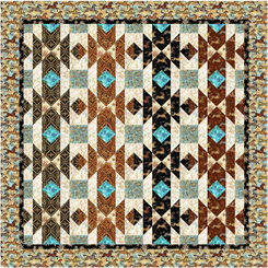 Southwest Flair Quilt Kit - 58 x 58 - Includes backing fabric and pattern