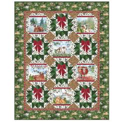 Christmas Longhorns Homestead Christmas Quilt 4036A