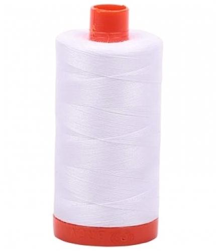 Aurifil White 50 wt Cotton 2024  1422 yd