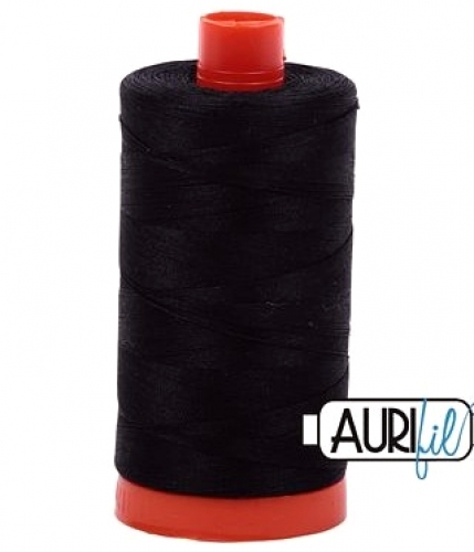 Aurifil Thread Cotton 50wt  1422 yds Black 2692