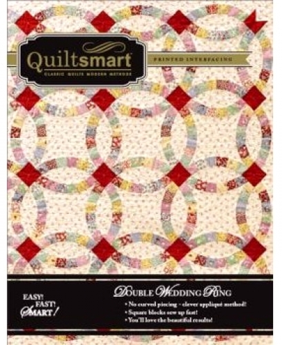 Quiltsmart: Double Wedding Ring Instruction Booklet Includes 8 Interfacing Panels