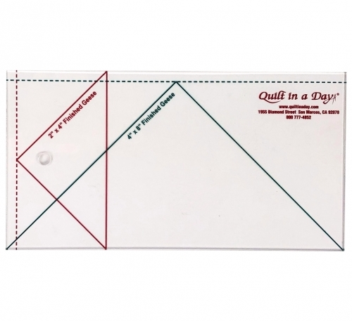 Large Flying Geese Ruler 4 X 8 by Quilt in a Day 735272020073 Rulers & Templates