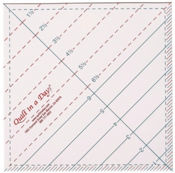6 1/2 Triangle Square Up Ruler by Quilt in a Day 735272020103 Rulers & Templates