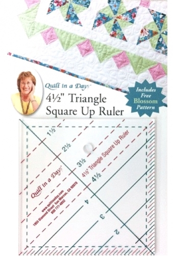 4.5 Triangle Square Up Ruler by Quilt in a Day 735272020431 Rulers & Templates