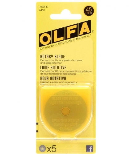 Olfa 45mm Rotary Blades, Set of 5