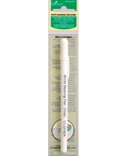 Clover White Marking Pen - Fine - 051221523038 Quilting Notions