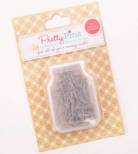Pretty Pins - Rustproof Blocking T Pins by Lori Holt - 889333120889 Quilting Not...